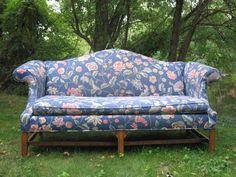 Ethan Allen Camelback Sofa - $75 (Newton, MA)