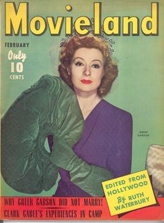 Greer Garson-Movieland magazine-Feb 1943