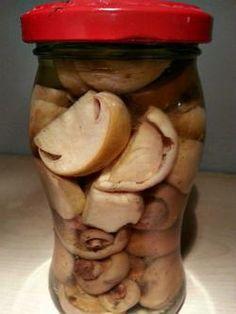 Zavarane huby - recept na nakladane huby - Vaše rady a tipy - Ako sa to robí.sk Y Recipe, Marmalade, Food Dishes, Preserves, Pickles, Cucumber, Stuffed Mushrooms, Food And Drink, Homemade