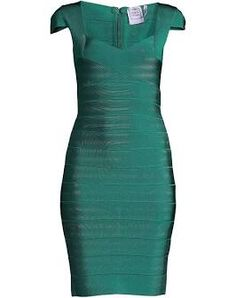 Green Bandage Dress, Herve Leger Dress, Bodycon Dress, Female, Identity, Shopping, Digital, Dresses, Fashion
