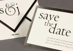 #VeraWangStationery on #Weddings Volume Two #Savethedate #blackandwhite; www.hyegraph.com/wedding-invitations