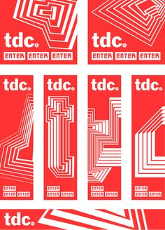 TDC (Type Directors Club) : by Paula Scher, Pentagram