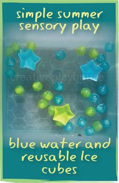 Summer Sensory Play - Reusable Ice Cubes and Water