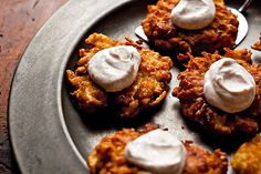 Latkes with fried apples for Hanukkah from the New York Times