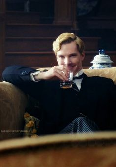 I love that there's a ginger jar right behind his Gingerbatch head. (Parade's End)