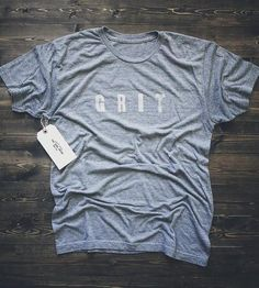 Grit Letterpress T-Shirt by the Good Union on Scoutmob