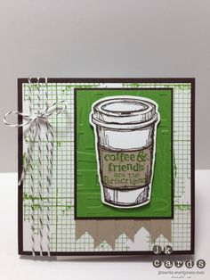 Stampin' Up!, Freshly Made Sketches #89, Perfect Blend, Off the Grid, Alphabet Press Embossing Folder, Bitty Banners Framelits, Early Espresso Bakers Twine