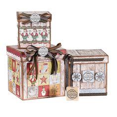 Sterling Inc Sisal Gift Box Christmas Decoration   Christmas ...