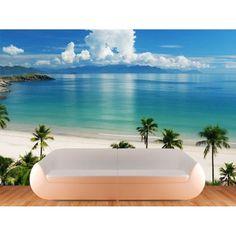 BEACH MURAL IDEAS TO PAINT ON DIVIDER WALL | Beach-Scene-Vinyl-Wall-Mural-Decal-Sticker-Art-Graphics-Wallpaper ...