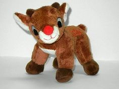 Dandee Stuffed Plush Christmas Rudolph The Red Nosed Reindeer Deer 8.5in