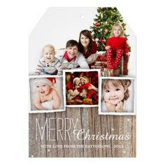 78 best christmas greetings images on pinterest christmas cards country rustic wood merry christmas photo card m4hsunfo
