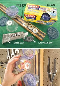 Want more storage? Than try these DIY garage storage ideas! Get your garage organization done this weekend! Diy Garage Storage, Basement Storage, Storage Room, Craft Storage, Food Storage, Basement Laundry, Storage Containers, Storage Center, Alice