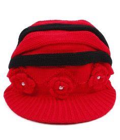 Bizarro Red & Black Kids' Woollen Cap