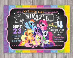 Mi pequeño Pony invitación para fiesta de por WonderAndWishes