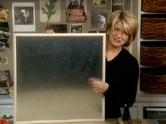Martha shows you how to make a clever magnetic bulletin board that is just right for keeping organized.
