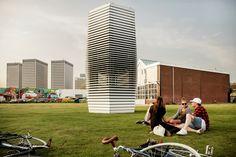 Galeria - Purificador de ar transforma CO2 em jóias nos Países Baixos - 1