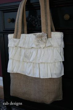 Burlap and Ruffles: It works
