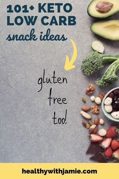 Sometimes you just can't avoid that late afternoon or midnight snack attack! But food and snack cravings don't have to throw you off your keto diet. Check out these gluten free, keto snack ideas that you can bring to work or keep on hand when snack cr Gluten Free List, Gluten Free Menu, Gluten Free Snacks, Keto Snacks, Healthy Snacks, Workout To Lose Weight Fast, Sugar Free Diet, Midnight Snacks, Keto For Beginners