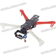 $38 FLYCAT MWC X-Mode Alien Multicopter Quadcopter Frame Kit with Gopro PTZ Glass Fiber Black $37.70 Free Shipping @GoodLuckBuy.com
