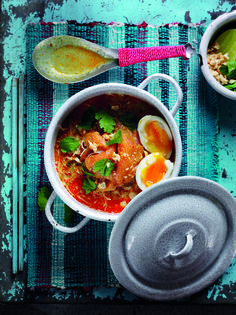 Smoked Salmon Laksa with soft boiled egg | Egg Recipes