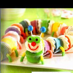 Caterpillar cupcakes!