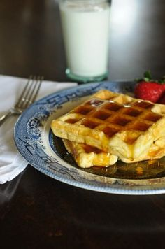 It's hard to beat a warm, buttermilk waffle with a dollop of butter and a drizzle of maple syrup in the mornings. Light, fluffy and one of my son's favorite breakfasts. But I have to be honest, I don't have time every morning to get up and mix up waffle batter and make a stack of fresh waffles. So,