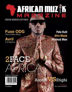 Official Cover of the African Muzik Magazine Cover featuring 2Face Idibia