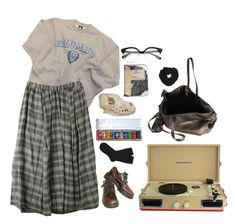 """""""college dayz"""" by lemonscentedgay on Polyvore featuring Columbia, Dr. Martens, Rick Owens, Miss Selfridge, Crosley and Falke"""