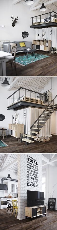 it means that you have everything you need for a living... these gorgeous examples of Fantastic Loft Studio Apartments That You Should Not Miss.