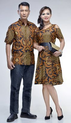 Model Baju Batik Gaun Couple 20