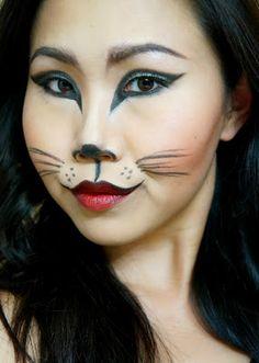 kitty cat make up | Kitty Cat Makeup Tutorial | Cute Halloween ...