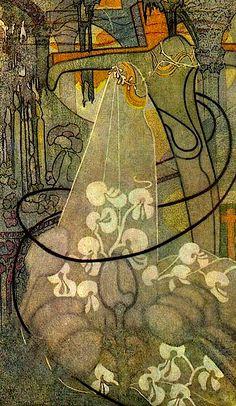 PRIKKER, Johan Thorn Dutch Art Nouveau Illustrator (1868-1932)_The bride