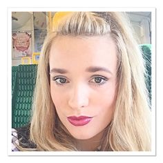 #inlove with this #marksandspencers #lipstick cannot live with out it! #selfie #train #lipgloss #berryred #glossy #lips #pearlsandvagabonds #keeleyjoannegent #blonde #girl #woman #hightoppony #fringepony #eyes #makeup #fashion #fashionista #strikeapose #pout #blondie #fashionblogger #neeblog #fblogger #bloggging #follow #like #style