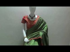 Green Silk Designer Saree with Red Desgner Blouse - YouTube #saree, #Wedding, #Hot, #Blouse, #Pattu, #Draping, #Farewell, #Photoshoot, #Cotton, #Modern, #Dress, #Georgette, #Styles, #Sabyasachi, #Floral, #Lace, #Navel, #Embroidery, #Half, #Gown, #PartyWear, #Chiffon, #Bridal, #Bengali, #White,