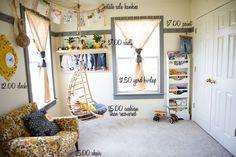 budget friendly family room via ashley ann photography