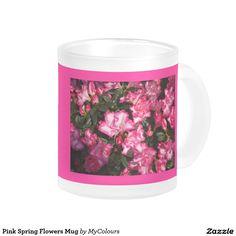 Flowers Coffee & Travel Mugs Coffee Travel, Travel Mug, Spring Flowers, Tea Cups, Coffee Mugs, Floral Design, Inspired, Tableware, Pink