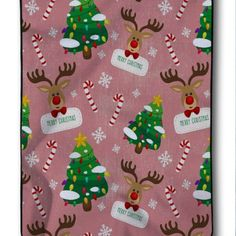 Merry Christmas Cute Custom Deer Blanket