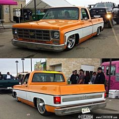 Hot Wheels - Couple of cool shots of so sweet getting its show cruise on, love that raked stance! Chevy Pickup Trucks, Classic Chevy Trucks, Chevy C10, Chevy Pickups, Chevrolet Trucks, Classic Cars, Lowrider Trucks, C10 Trucks, Pick Up