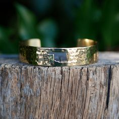 Oklahoma Cut Out Gold .5 – Rustic Cuff