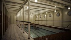 Titanic II- Bigger replica of the iconic liner, to set sail in 2018 . Rms Titanic, Titanic Photos, Titanic History, Titanic Underwater, Set Sail, Finding A House, Swimming Pools, Sailing, Ocean