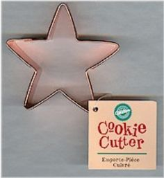 Star Cookie Cutter by Wilton (copper) Star Cookie Cutter, Christmas Cookie Cutters, Christmas Cookies, Star Cookies, Intelligence Service, Princess Birthday, Cyber, Stars, Party