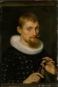 Peter Paul Rubens (Flemish, 1577–1640). Portrait of a Man, Possibly an Architect or Geographer, 1597. The Metropolitan Museum of Art, New York. The Jack and Belle Linsky Collection, 1982 (1982.60.24) #mustache #movember