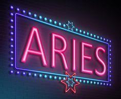 Aries neon sign.