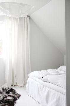 White bedroom via the Style Files.