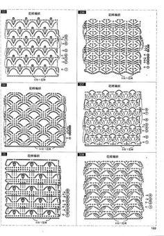 Foto: Crochet Diagram, Crochet Chart, Filet Crochet, Crochet Fabric, Diy Crochet, Afghan Crochet Patterns, Stitch Patterns, Knitting Stitches, Craft Tutorials