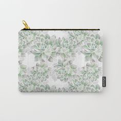 Delicate silvery mint succulents Carry-All Pouch