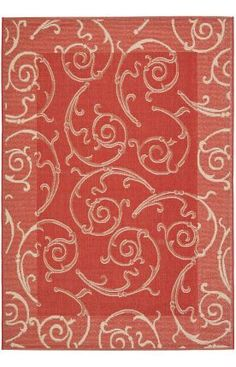 $5 Off when you share! Safavieh Courtyard CY2665 Red Natural Rug