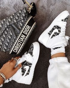 Behind The Scenes By mattbcustoms Dior Sneakers, Sneakers Mode, Sneakers Fashion, Fashion Outfits, Fashion Fashion, Jordan Shoes Girls, Girls Shoes, Aesthetic Shoes, Aesthetic Fashion