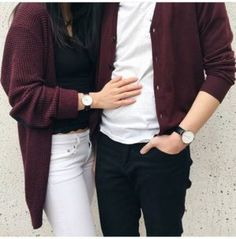 Korean Street Fashion for Couple Outfit Couples Assortis, Beaux Couples, Romantic Couples, Matching Couple Outfits, Matching Couples, Matching Clothes, Mode Outfits, Casual Outfits, Korean Look