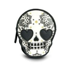 Loungefly Skull With Lace Die Cut Coinbag